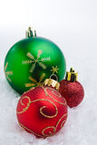 Christmas Time. A series of colorful Christmas ornaments decoration royalty free stock images