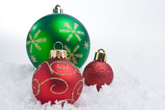 Christmas Time. A series of colorful Christmas ornaments decoration stock image