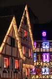 Christmas time in Alsace. Christmas in Alsace in the city of Colmar Stock Images