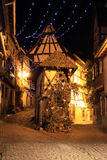 Christmas time in Alsace. Christmas in Alsace in the city of Eguisheim Royalty Free Stock Photos