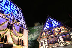 Christmas time in Alsace. Christmas in Alsace in the city of Kaysersberg Royalty Free Stock Images