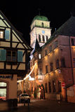 Christmas time in Alsace. Christmas in Alsace in the city of Kaysersberg Royalty Free Stock Photo