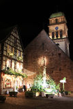 Christmas time in Alsace. Christmas in Alsace in the city of Kaysersberg Royalty Free Stock Photos