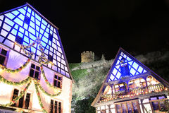 Christmas time in Alsace. Christmas in Alsace in the city of Kaysersberg Stock Photos