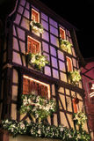 Christmas time in Alsace. Christmas in Alsace in the city of Riquewihr Stock Images