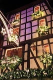 Christmas time in Alsace. Christmas in Alsace in the city of Riquewihr Royalty Free Stock Photography