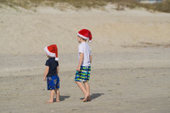 Christmas time at the beach Stock Photography
