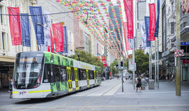 Christmas Time in Bourke Street Mall, Melbourne, Australia. Royalty Free Stock Photo