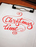 Christmas Time calligraphic background Royalty Free Stock Images