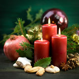 Christmas time, candles Stock Photo