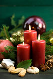 Christmas time, candles Royalty Free Stock Photos
