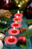 Christmas time, candles Stock Photos