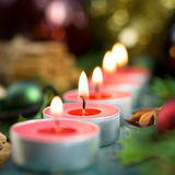 Christmas time, candles Stock Image