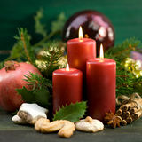 Christmas time, candles Royalty Free Stock Photo