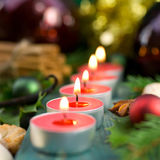 Christmas time, candles Royalty Free Stock Image