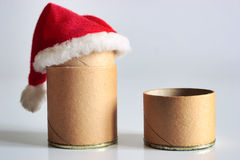 Christmas time for cardboard packages royalty free stock photos