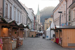 Christmas time in Celje, Slovenia. Picture of traditional Christmas market in old Slovenian city Celje. Christmas time in Slovenia Stock Images