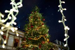 Christmas time. In Moscow russia winter Stock Images
