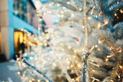 Christmas time in the city. Royalty Free Stock Images