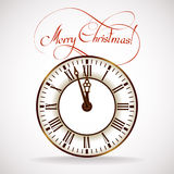 Christmas Time clock Stock Images