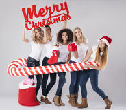 Christmas time is coming Stock Images