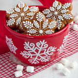 Christmas time composition with cookies Royalty Free Stock Photos