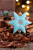 Christmas time composition with cookies Stock Photography