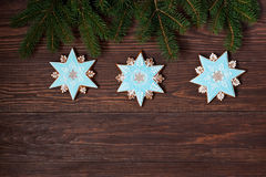 Christmas time composition with cookies Royalty Free Stock Photography