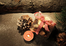 Christmas time with cookies Stock Images