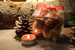Christmas time with cookies Royalty Free Stock Photos