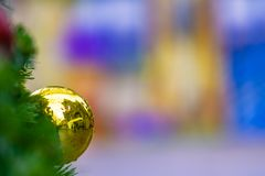 Christmas time. A decorative christmas ball background wallpaper royalty free stock images