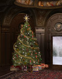 Christmas time. In an elegant old room Royalty Free Stock Images