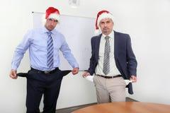Christmas time - empty pockets stock photo