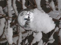 Snow covered ornament Royalty Free Stock Image