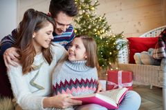 Christmas time with family Stock Images