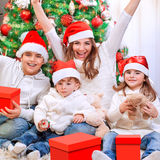 Christmas time family portrait Royalty Free Stock Photo