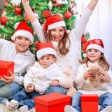 Christmas time family portrait Royalty Free Stock Photo