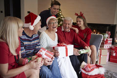 Christmas time with family Royalty Free Stock Image