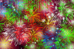 Christmas time fireworks Royalty Free Stock Images