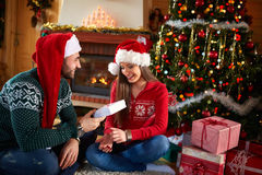 Christmas time with gifts Stock Photo