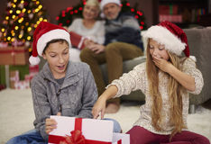 Christmas time for happy family Stock Photos