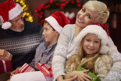 Christmas time for happy family. So much love during the christmas celebration Royalty Free Stock Photo