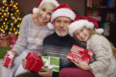Christmas time for happy family Royalty Free Stock Photos
