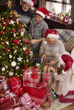 Christmas time for happy family Royalty Free Stock Photo