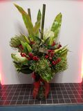 Christmas flowers, artificial royalty free stock photos