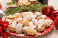 Christmas time home made cookies Stock Photo