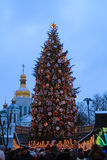 Christmas time in kiev Royalty Free Stock Photography