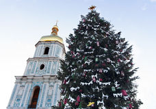 Christmas time in Kyiv photo Royalty Free Stock Photo