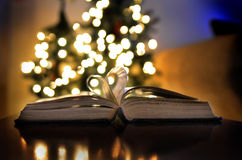 Christmas Time Lights Book Love Reading and Learning Stock Images