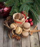 Christmas time, macaroons Stock Photos